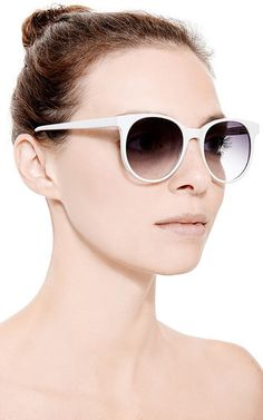 London Round Frame Acetate Sunglasses by PRISM Now Available on Moda Operandi