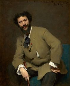 "John Singer Sargent (American, 1856–1925). Carolus-Duran, 1879. Sterling and Francine Clark Art Institute, Williamstown, Massachusetts, USA | This work is in our ""Sargent: Portraits of Artists and Friends,"" on view through October 4, 2015."