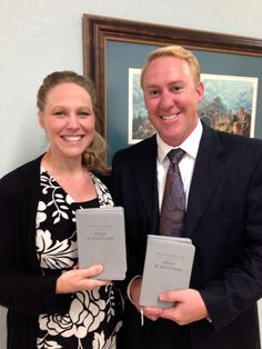 Our new beautiful Bibles, Leadville CO, Jeremy & me :)
