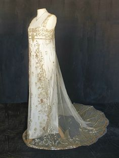 1910 silk net dress