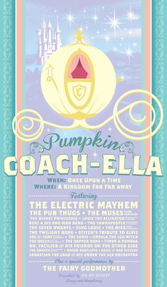 Disney Pumpkin Coach-Ella Poster if only....