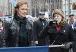 Here areHQ Pics of Sam Heughan as Grand Marshal at the NY Tartan Parade See more pictures after the jump –