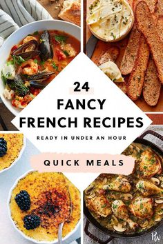 French Recipes Dinner, French Dinner Parties, French Cooking Recipes, Easy French Recipes, Gourmet Recipes, Healthy Recipes, Cooking Food, Healthy Food, French Desserts