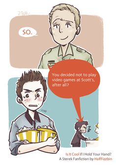 Fanart fluff Sterek Sheriff Stilinski halffizzbin fanfic inspired Papa Stilinski is the best looooots of fluff!!!! 1