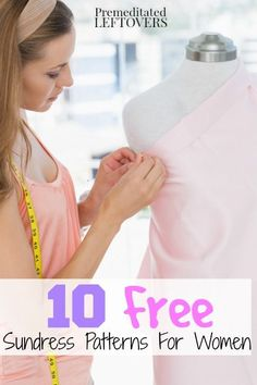 10 Free Sundress Patterns for Women - Save money on your summer wardrobe by creating sundresses with the free sundress patterns. affordable clothing, cheap clothing, frugal clothing