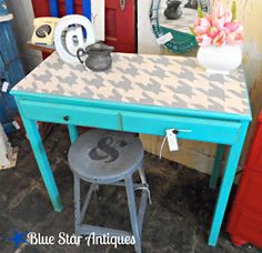 Houndstooth table top