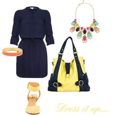 Dressed Up Hannah Pastel Collection - Yellow/Navy