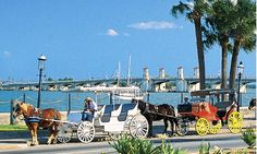 St. Augustine ~ next time I will need to take a ride in the horse drawn carriage ~ seems so romantic!