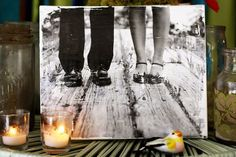 DIY Photo on Canvas. Would love to do this with our wedding photos.