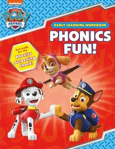 Chase, Marshall, Skye and the rest of your favourite hero pups are here to help you prepare for the Phonics Screening Check.  Learn to blend sounds, recognise consonants and vowels, and read simple sentences. Home Learning, Early Learning, Blending Sounds, Simple Sentences, Paw Patrol, Phonics, Pup, Rest, Reading