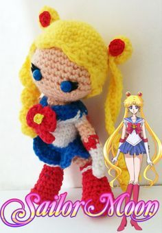 Sailor Moon amigurumi made by The Craftzilla See more about her at https://www.facebook.com/thecraftzilla