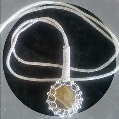 Gümüş tamamı el işi kolye