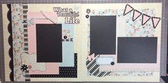 What a Beautiful Life - 12x12 Scrapbook Kit, 2 Page Scrapbook Kit, Scrapbook Pages