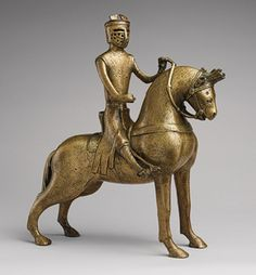 Aquamanile in the Form of a Knight on Horseback, mid–13th century German (Lower Saxony, probably Hildesheim)