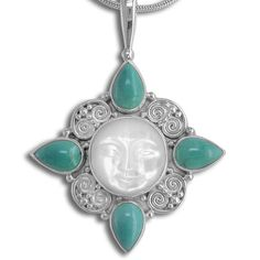 This is a gorgeous pendant featuring a 15mm goddess face hand carved out of