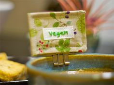 binder clips and handmade labels for food labeling