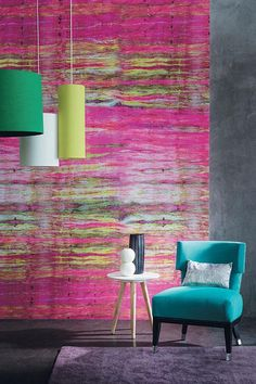 In an instant - a new vinyl wall covering.