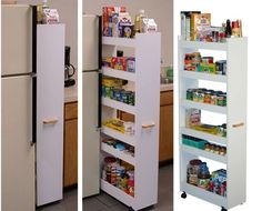 Pull out storage for small spaces