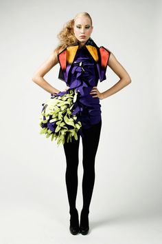Explosion purple dress by ShirleyJonkers on Etsy, €235.00