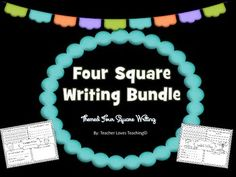 Love Four Square Writings? This bundle is made up of all different themed Four…