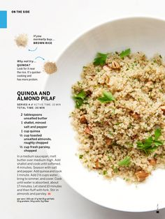 Quinoa And Almond Pilaf From Martha Stewart S Everyday Food