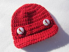 St. Louis Cardinals Baby Cap Red Newsboy by crochetedbycharlene