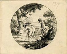 The expulsion of Adam and Eve from Paradise; within circle.  c.1790/94  Etching