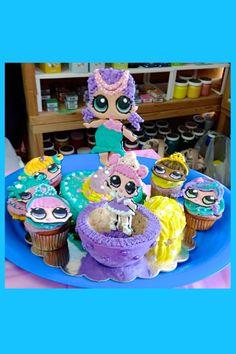LOL Surprise! Dolls birthday cupcakes with Merbaby