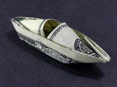 Dollar Bill Origami KAYAK - Made with a $100 bill.