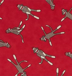 Monkey sock fabric! I want this! I would make a cozy  blanket and stay wrapped up all year long!