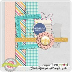 Little Miss Sunshine tiny kit freebie from Tickled Pink Studio Project Life Free, Turquoise, Teal, Blue, Little Miss Sunshine, Blog Design, Love Gifts, Digital Scrapbooking, Creations