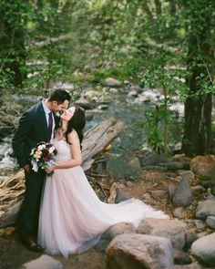 Sedona Creekside Wedding in the Forest || Sedona Wedding Photographer Jane in the Woods