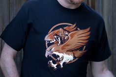 Awesome Tee: Ride The Falcon T-Shirt  By, none-other than WinterArtwork