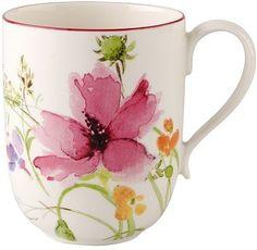"Villeroy & Boch ""Marisfleur"" Latte Macchiato Mug"