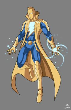 Doctor Fate/Shazam amalgam commissioned by Michael Brewer The Marvel aka White Wizard Of Fate commission Comic Heroes, Superhero Design, Dc Comics Artwork, Superhero Comic, Comics, Comics Universe