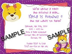 Build A Bear Party Invitation Build A Bear Bearparty