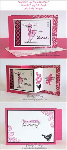 Stampin' Up! Beautiful You - Double Z Joy Fold - Judy May, Just Judy Designs