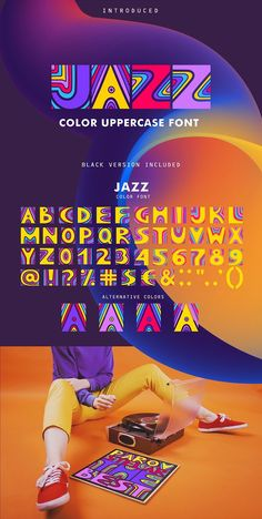 JAZZ - Color Font by Struvictory.art on @creativemarket