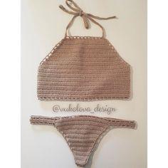 Вязанный купальник на заказ по вашим меркам кроп топ и трусы стринги - идеальная комбинация для эффектного появления на пляже!#highneckbikinitop #bikini2016 #summertop #highneck #highnecktop #knitting #knittop #вязаныйтоп #вязаныйкупальник #summerbikini #bikiniseason #trendy #лето #bikinishopping #crochetbikini #crochet #summerwear #beachwear #instacrochet #crochettop #кроптоп by vukolova_design