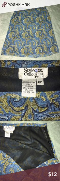 Style & Co Collections Skirt Paisley Nautical Style & Co Collections Skirt in Excellent Pre-Loved Condition! See Pictures for Details & Measurements. Please make sure this will fit before purchasing! 🌹 Don't forget to look at my other items! 💕Bundle & $ave💕 If over 5 lbs, Extra Shipping Fees Apply. I can let you know your Bundle weight before you purchase! Just ask! 😊 Style & Co Skirts A-Line or Full