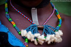 Africa | Details of Hamer beaded necklaces.  Omo Valley | © Ronny Reportage