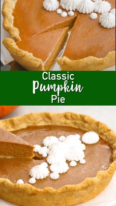 It's hard to beat a classic! Let us help you do it right! Delicious and simple Classic Pumpkin Pie Recipe: this pumpkin pie is creamy, silky smooth, with a rich filling, is easy to slice, and should be on every Thanksgiving dessert table. Classic Pumpkin Pie Recipe, Perfect Pumpkin Pie, Easy Pumpkin Pie, Homemade Pumpkin Pie, Pumpkin Dessert, Pumpkin Pumpkin, Pumpkin Pie From Scratch, Pumpkin Tarts, Savory Pumpkin Recipes
