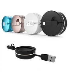 Puck N Roll Retractable Pocket Size Charging Cable For All Smart Devices