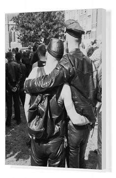 A gay couple at an S&M Pride march in London, Photograph: Steve Eason/Getty Images A queer couple wearing biker styled clothing. Biker Style, Gay Couple, Heritage Image, The Guardian, Leather Men, Leather Pants, Pride, Poster Prints, Scene