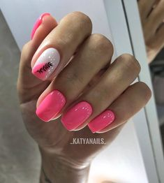 Discover new and inspirational nail art for your short nail designs. Learn with step by step instructions and recreate these designs in your very own home. Hot Nails, Pink Nails, Hair And Nails, Gelish Nails, Nail Manicure, Pedicure, Fancy Nails, Trendy Nails, Pink Nail Designs