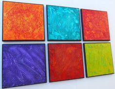 Wood Panel Art  Multi Panel Art  Large Modern Art by PattyEvansArt, $216.00