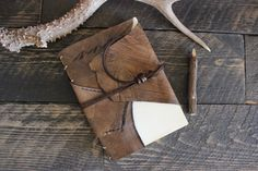 Leather Journal Mountains by Willow Creek Leather Co.