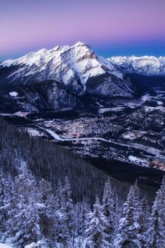 Banff from the Sulphur Mountain. Two week road trip itinerary around the Canadian Rockies