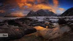 """This a pano shot of the famous Utakleiv Beach in Lofoten Norway .Please  <a href=""""https://www.facebook.com/YiannisPavlis4"""">Visit me on Facebook!</a>."""