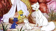 Los Aristogatos gato gatos de dibujos animados animación familia gatito disney